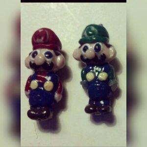 Jewelry - Super Mario and Luigi earrings